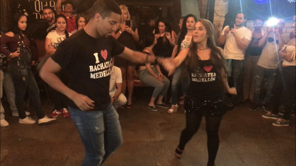 Image of social dancing on Thursdays at skybar one the best salsa clubs in medellin