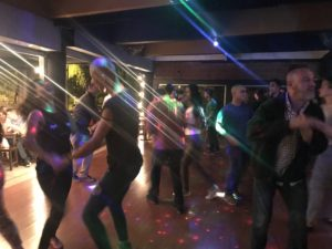 Image of social dancing on Fridays at el social one the best salsa clubs in medellin