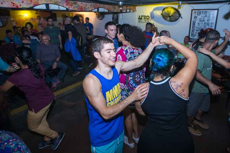 image of social dancing on Wednesdays at tibiri tabara one the best salsa clubs in medellin