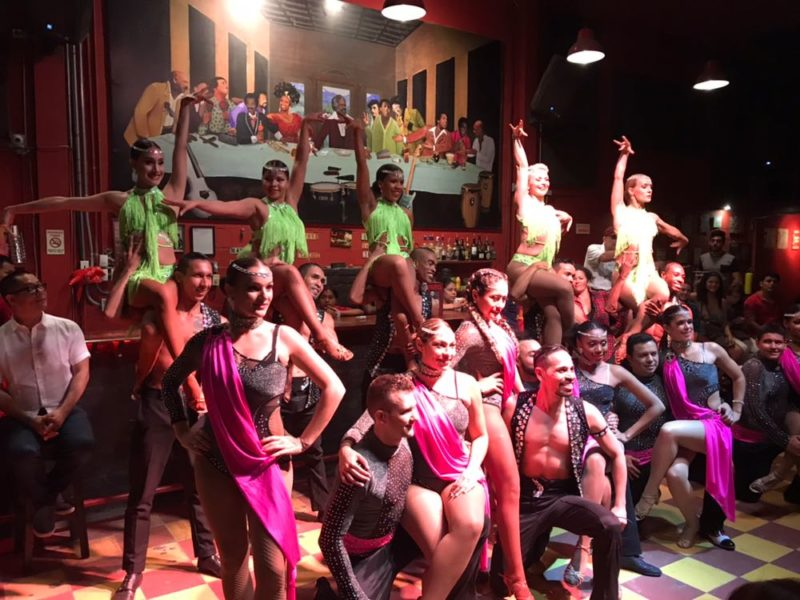 Salsa Cali style at one of La Topa's beloved shows